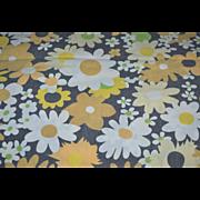 SALE Black & Orange Halloween Flower Twin Flat Sheet