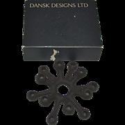 "SALE Mid Century Danish Modern Dansk Designs JHQ Black ""Spider"" Cast Iron Candle Hol"
