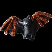 SALE Lehman Fun World Collectible Halloween Bat Glitter Pin