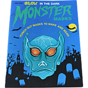 SALE Glow in the Dark Halloween Monster Masks Book