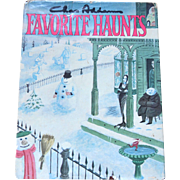 SALE 1976 Chas Addams FAVORITE HAUNTS Cartoon Collection Hardcover Book w/ DJ 1st Ed