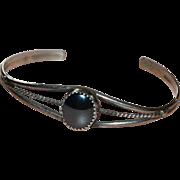 SALE Sterling Silver & Hematite Southwestern Cuff Bracelet