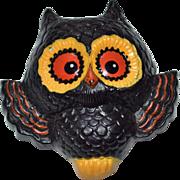 SALE 1970s Hallmark Spooked Owl Hard Plastic Pin