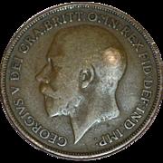 SALE Circa 1915 GEORGIVS V DEI GRA BRITT OMN REX FID DEF IND IMP One ...