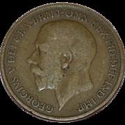 SALE Circa 1919 GEORGIVS V DEI GRA BRITT OMN REX FID DEF IND IMP One ...