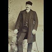 SALE Distinguished 'William Warren' Winter Scene Olneyville, Rhode Island Cabinet Card Photo