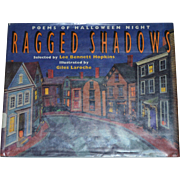 SALE 1993 Ragged Shadows: Poems of Halloween Night ~ First Edition Hardcover Book