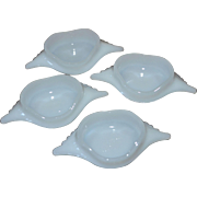 SALE Glasbake Set of 4 Milk Glass Deviled Crab/Imperial Crab Baking Dishes