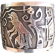 Storyteller Cuff-107 grams of Solid Silver!  FREE SHIPPING!