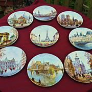 Paris Scene Plates by Artist Louis Dali