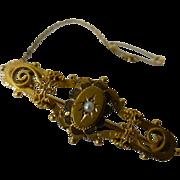 REDUCED Victorian Gold Natural Pearl Pin
