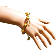 REDUCED A hidden Gem with this 18k very Heavy, Antique Bracelet….! ! !
