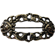 REDUCED Ancient  English  Sliver Hair clip or Brooch 1901