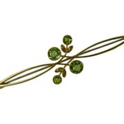 The most Beautiful  Peridot 15K Brooch * * * * *