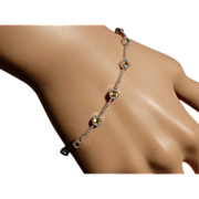 REDUCED Diamond & Golden Citrine 18 carat Bracelet