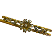 REDUCED Victorian seed Pearl Gold Brooch