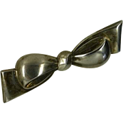 REDUCED Vintage Silver (835) BOW Brooch