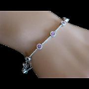 REDUCED Amethyst & Diamond 18k Bracelet