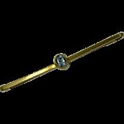 REDUCED Antique Aquamarine 15k Gold Brooch