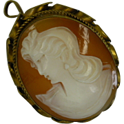 A Vintage Silver Gilt Cameo Brooch