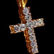 REDUCED 1 carat Diamond weight Cross & Chain * * * * *