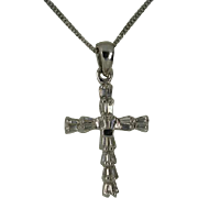 REDUCED 1 Carat of Natural Diamonds set in a 18k Cross