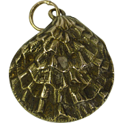 REDUCED Oyster Shell Pendent / Charm with REAL Pearl
