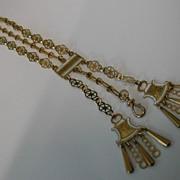 Vintage 18 carat Gold CHATELAINE Chain