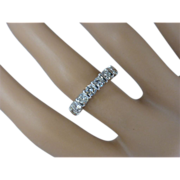 REDUCED 7 Stone Diamond half Eternity Ring, almost 1.24 Carat.