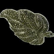 "Marcasite ""Leaf"" Brooch"