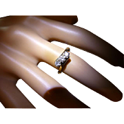 "Very neat 3 stone ""Crossover"" Diamond Engagement ring"