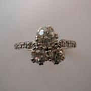 REDUCED Unusual 3 Stone VICTORIAN English Diamond Ring