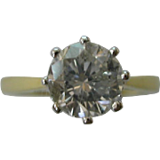 REDUCED I.06 Carats  18ct,  Gold Single Diamond Ring