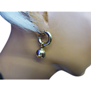 REDUCED Gold Ear Rings with 2 styles