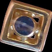 Round Sapphire Ear Studs
