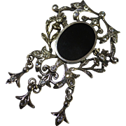 REDUCED Mobile Art Deco style silver Brooch