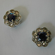 REDUCED Classic 18 ct. Sapphire & Diamond Cluster Ear Studs