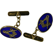 Gold Vitroes Enamel MASONIC Cuff links
