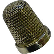 REDUCED Solid Silver 1924 Thimble