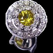 REDUCED Golden Citrine &  Diamond Ear Studs