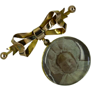 1894 Locket Gold Brooch
