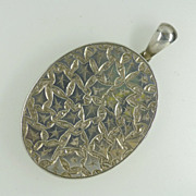 REDUCED Victorian Large Silver engraved Locket