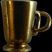 """Vintage """"Beer Mug"""" Gold Charm"""