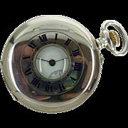 REDUCED London 1918 Half Hunter Silver Pocket Watch