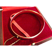 REDUCED Vintage French 18k (Tested & Marked) Plain Gold Bangle