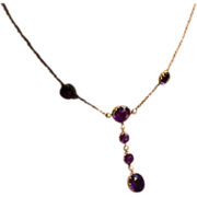 REDUCED Fabulous Victorian Amethyst & Seed Pearl Necklace