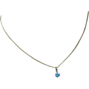 Natural Blue ZIRCON Gold Pendent * * * * *
