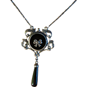 REDUCED Solid Silver Art deco Style Pendent