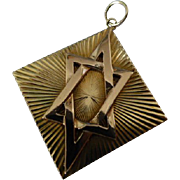 "REDUCED Large Diamond Cut ""Star of David"" Gold Pendent"