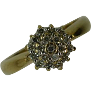 REDUCED Neat Diamond Cluster Ring